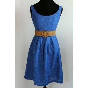 Nine West Fit & Flare Dress with Belt - Size 10